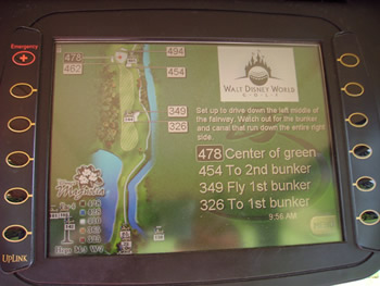 Disney Golfcart GPS Screen