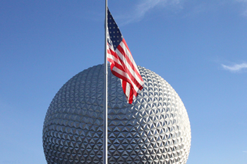 US Flag at Epcot