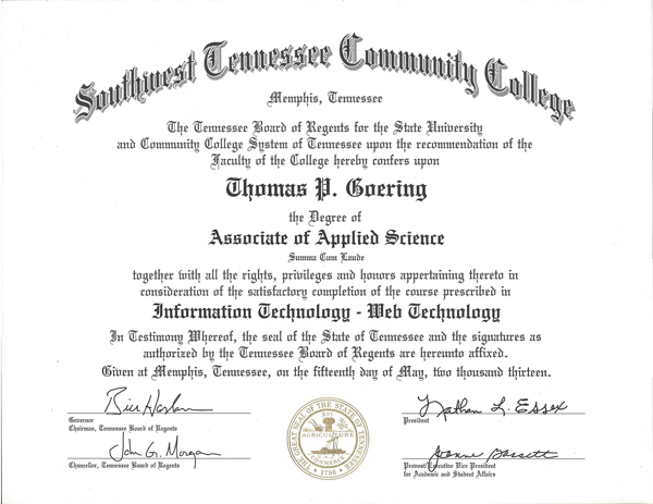 Southwest TN Community College AAS Degree