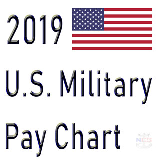 2019 military pay chart 26 all pay grades