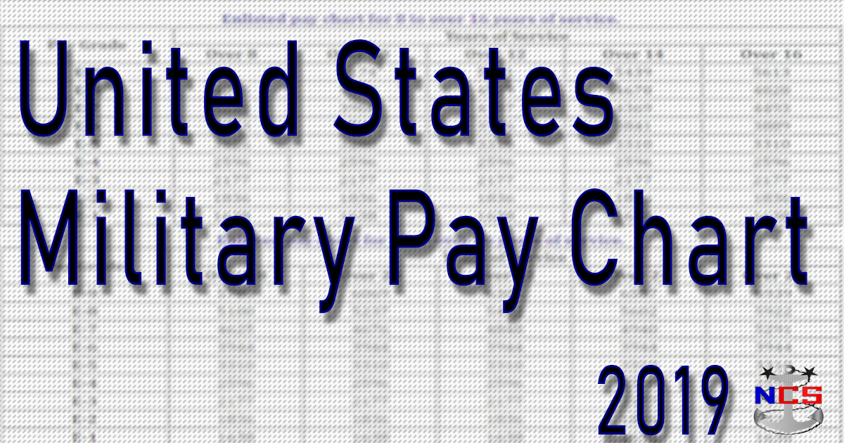 2019 Military Pay Chart 2.6% (All Pay Grades) - NavyCS