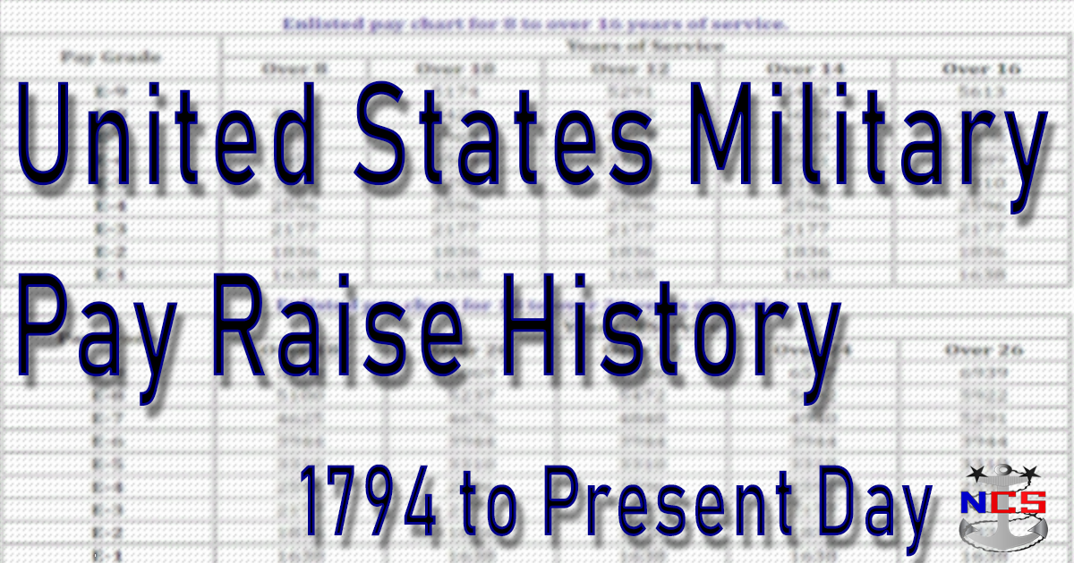 U.S. Military Pay Raise History (1794 to Present Day)