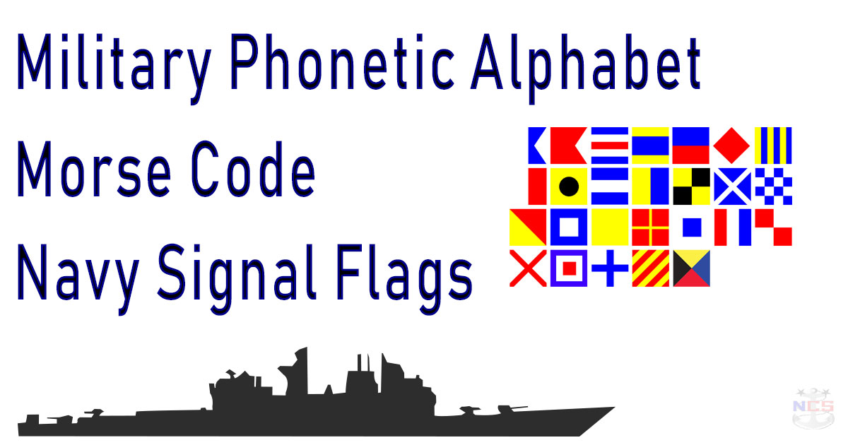 military phonetic alphabet & signal flags