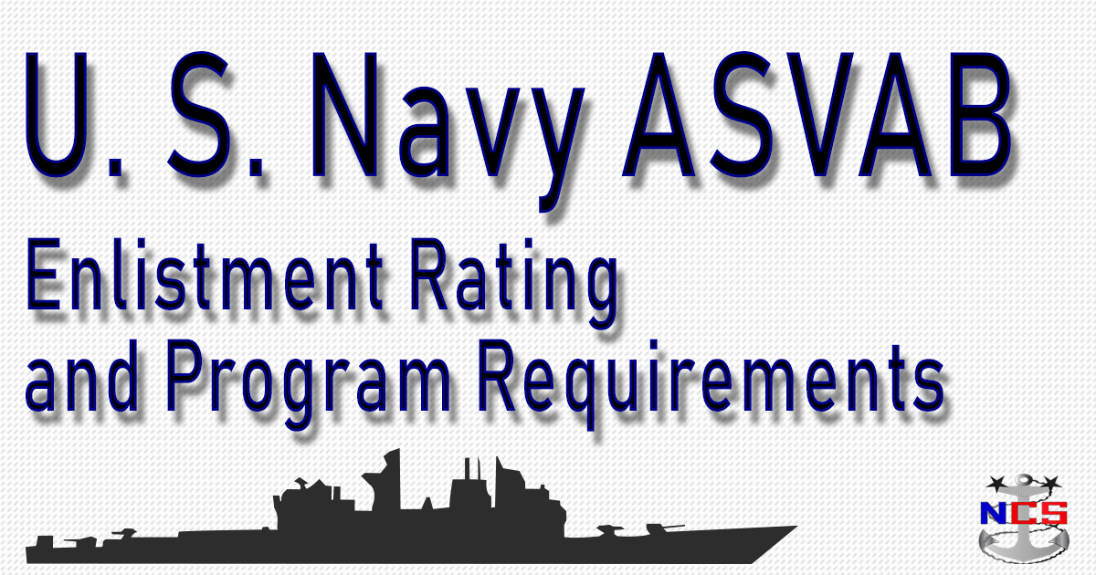 Navy Rating ASVAB Score Requirements