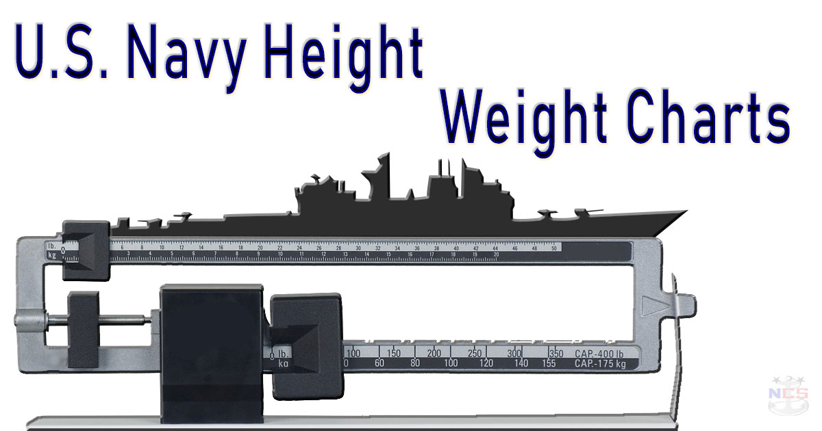 Height and Weight Chart - Navy