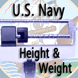 navy height and weight