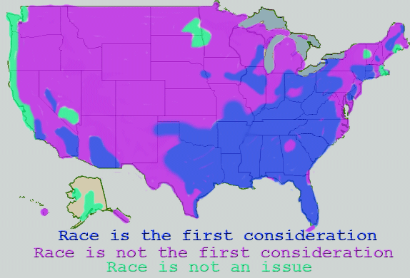 US Map of Racism