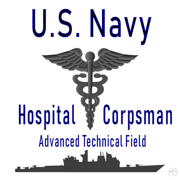 Navy Hospital Corpsman rating insignia